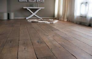 Landelijke eiken houten vloeren