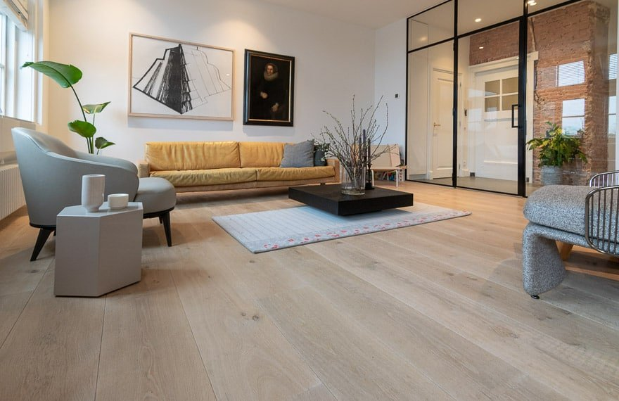 Landelijke houten vloeren
